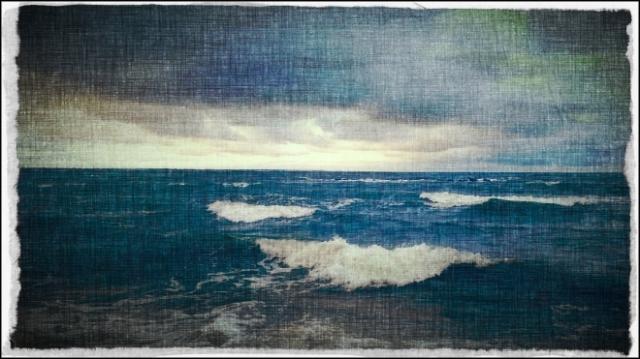 Image of storm at sea.